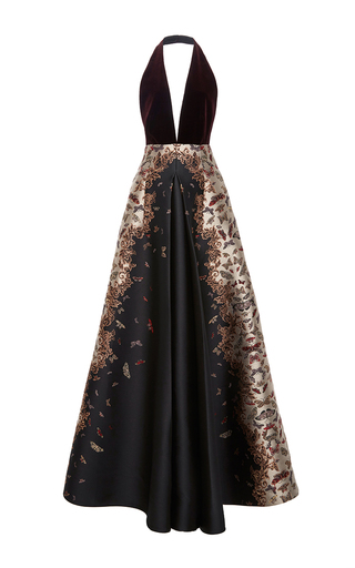 Medium zuhair murad multi flared halter gown