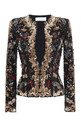 Medium zuhair murad black beaded jacket  2