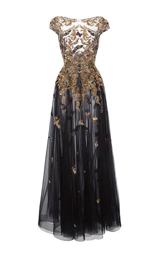 Medium zuhair murad black gold threadwork gown