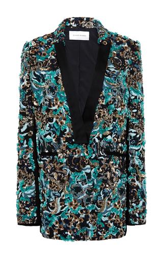 Medium zuhair murad black beaded smoking jacket