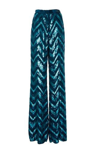 Medium zuhair murad blue sequins embroidered trousers