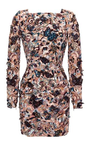 Medium zuhair murad multi fitted butterfly dress