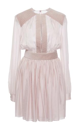 Medium zuhair murad purple long sleeve flared mini dress