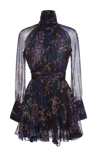 Medium emanuel ungaro multi floral silk ruched dress