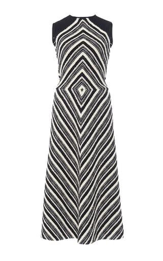 Medium martin grant black white diamond motif pullover dress