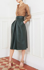 High Waisted Belted Skirt by MARTIN GRANT Now Available on Moda Operandi