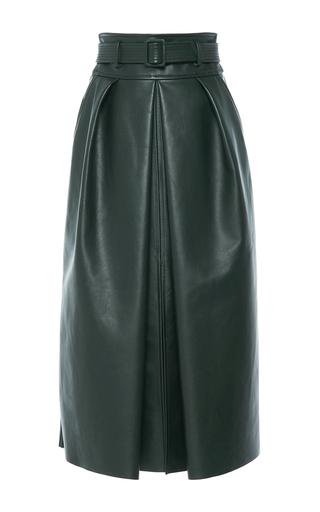 Medium martin grant green high waisted belted skirt