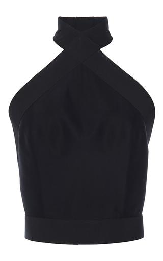 Medium martin grant black open back halter top