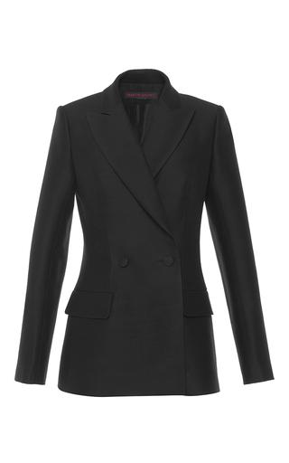 Medium martin grant black tailored silk wool jacket