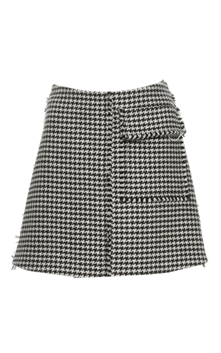 Medium j w anderson black white houndstooth mini skirt