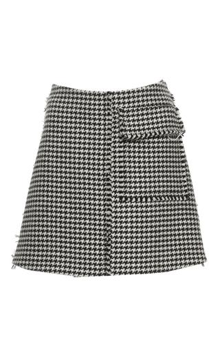 Medium j w anderson black white houndstooth mini skirt