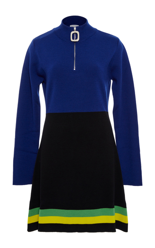 Medium j w anderson blue color block mini dress
