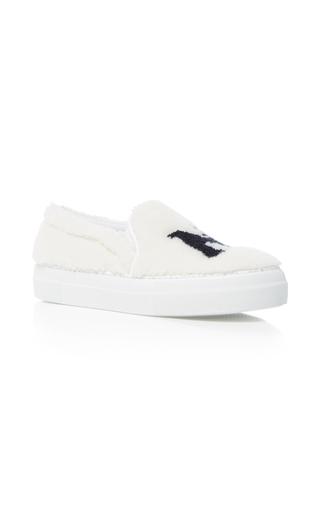 Medium joshua sanders white new york fur sneakers