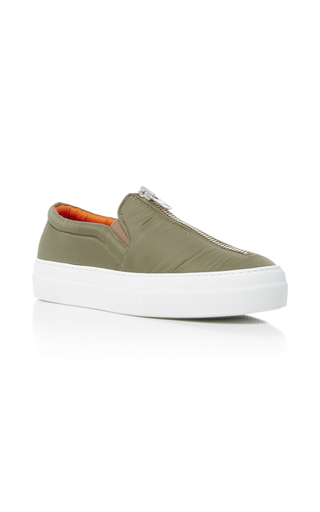 Medium joshua sanders green low military bomber sneakers