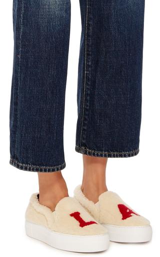 Los Angeles Fur Sneakers by JOSHUA SANDERS Now Available on Moda Operandi