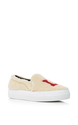 Medium joshua sanders tan los angeles fur sneakers