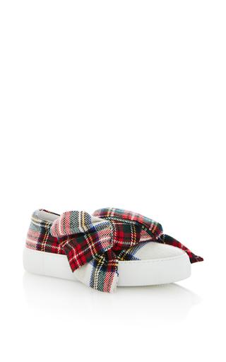 Medium joshua sanders plaid plaid bow slip on sneakers