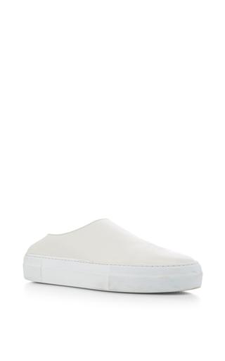 Medium tibi white charlie mule sneakers