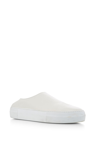 Medium tibi white charlie mule sneakers