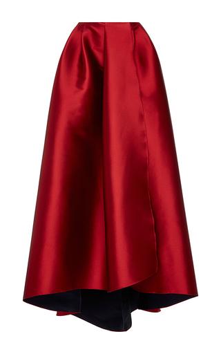 Medium sachin babi red veronica pleated skirt