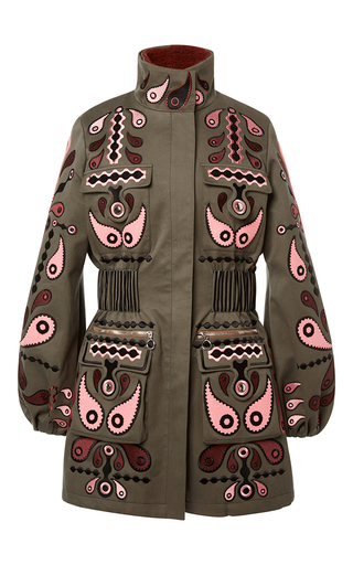 Medium holly fulton green cathy fur lined coat  2