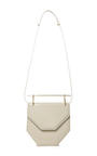 Amor/Fati Patent Double Handle Cross Body Bag by M2MALLETIER Now Available on Moda Operandi