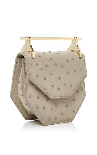 Mini Amor/Fati Ostrich Double Handle Cross Body Bag by M2MALLETIER Now Available on Moda Operandi