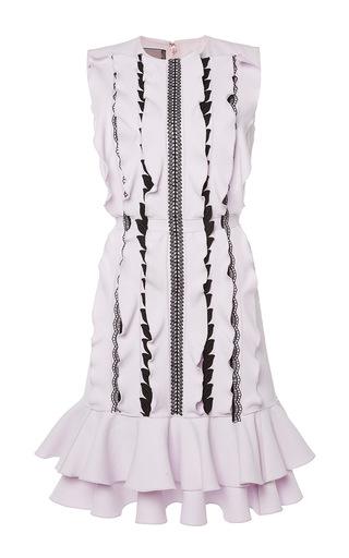 Medium giambattista valli light pink ruffle and lace shift dress