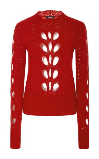 Medium isabel marant red ilia cutout shoulder top