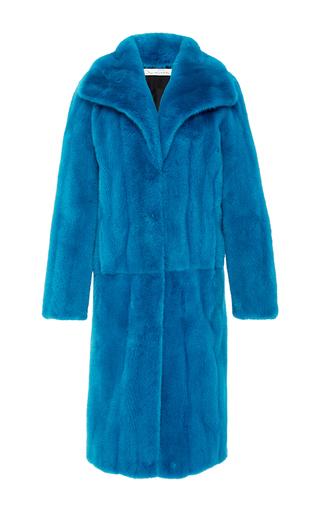 Medium oscar de la renta blue mink skin on skin coat