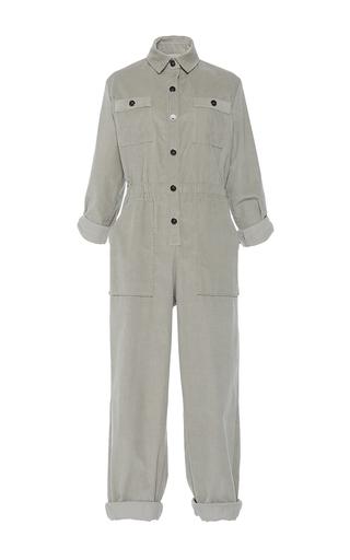 Medium vanessa seward light grey corduroy jumpsuit