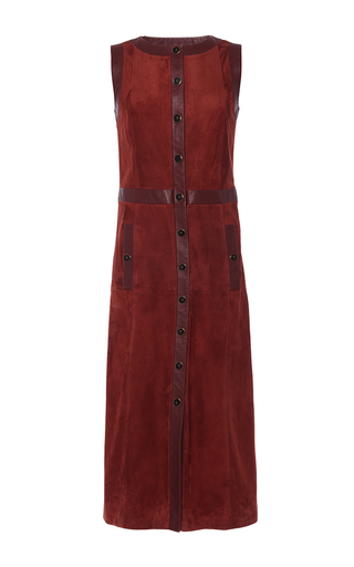 Medium vanessa seward red candice suede dress