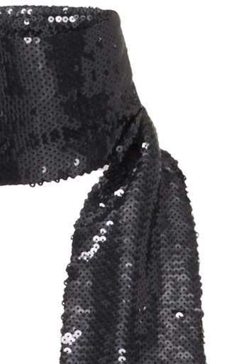 Grey Sequin Scarf by ROBERTO CAVALLI Now Available on Moda Operandi