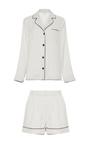 Cara Satin Pajama Short Set by MORPHO+LUNA Now Available on Moda Operandi
