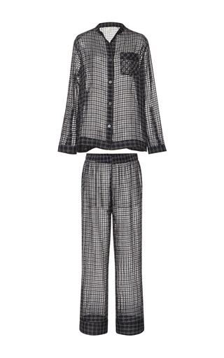Medium morpho luna plaid mika sheer pajama set