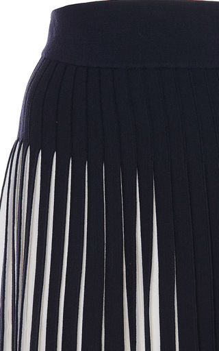 Midnight Tadanori Pleated Skirt by ORLEY Now Available on Moda Operandi