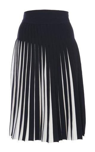 Medium orley navy midnight tadanori pleated skirt