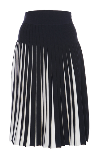 Medium orley navy midnight tadanori pleated skirt