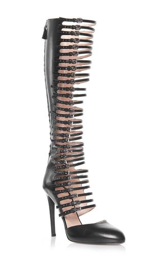 Medium giambattista valli black tall buckle pumps 2
