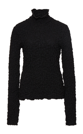 Medium beaufille black dione textured turtleneck