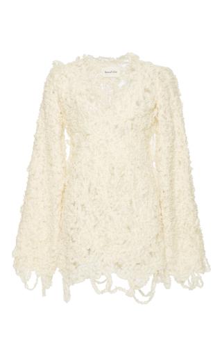Medium beaufille ivory moss handmade sweater