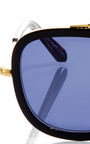 Huey Black Sunglasses  by KREWE Now Available on Moda Operandi