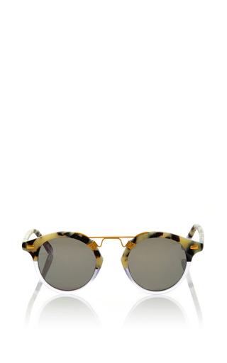 Medium krewe light grey st louis two tone sunglasses