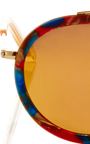 Conti Carnival Mirrored Sunglasses  by KREWE Now Available on Moda Operandi