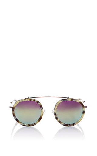 Medium krewe blue conti bone mirrored sunglasses