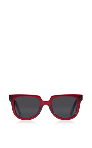 Medium krewe burgundy lyons acetate sunglasses