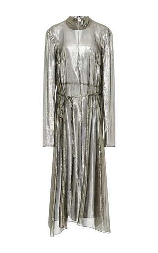 Medium hensely metallic metallic long sleeved tunic