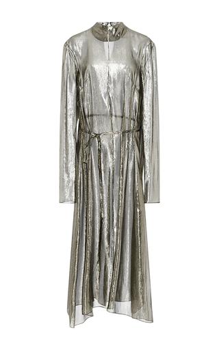 Medium hensely metallic metallic long sleeved tunic