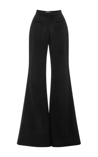 Medium hensely black cashmere tailored palazzo pants