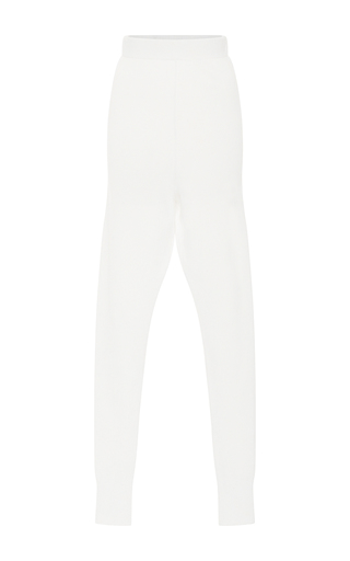 Medium hensely white knit jogger pants